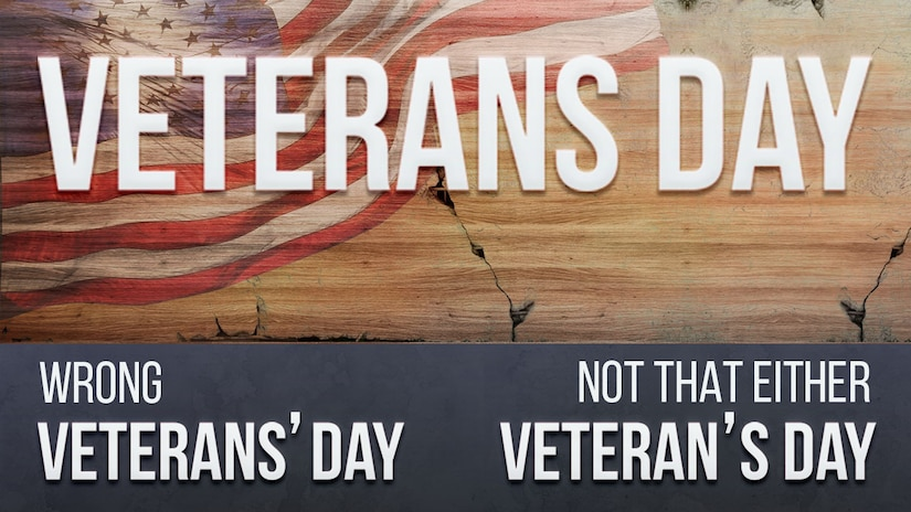 Correct spelling of Veterans Day