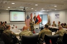Active component brigade commanders learn Army Reserve processes during multi-compo orientation
