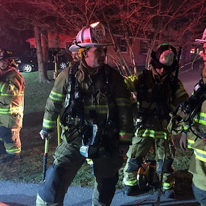 Chief Warrant Officer 3 Kenneth A. Phillips, 28th Infantry Division, has served as a volunteer firefighter and in the National Guard at the same time for more than 30 years. Some Guard members find the time for their full-time jobs, reserve duty and firefighting.