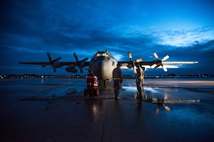 This photo, depicting a Kentucky Air National Guard  C-130 Hercules aircraft and maintainers participating in Exercise African Lion, was part of a group of images that won first place for Training Photo Series in the 2017 National Guard Bureau Media Contest. (U.S. Air National Guard photo by Master Sgt. Phil Speck)