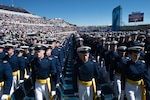 U.S. Air Force Academy Class of 2017 marches toward their seats during graduation in Colorado Springs, Colorado, May 24, 2017 (DOD/James K. McCann)
