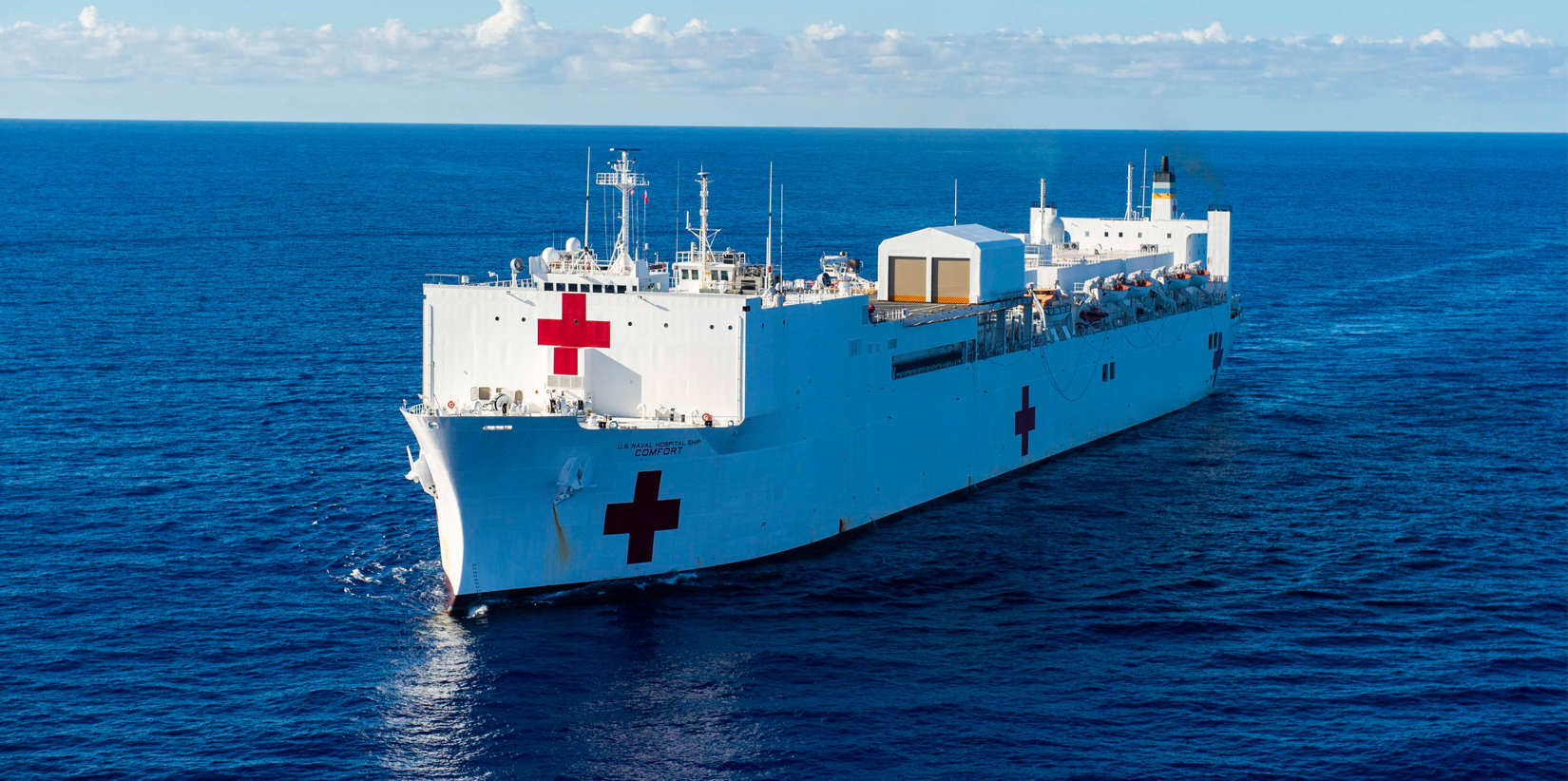 USNS Comfort at Sea