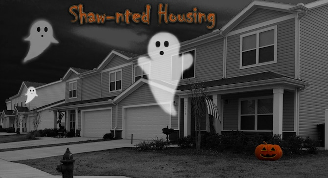 Housing residents claim they have encounters with the paranormal at Shaw Air Force Base, S.C., Oct. 30, 2018.