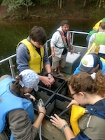 Buffalo District partnered with U.S. Army Corps of Engineers, Raystown Lake and students from Juniata College to conduct a lake wide aquatic plant survey with emphasis on hydrilla (hydrilla verticillata), an invasive aquatic plant in early October 2018.
