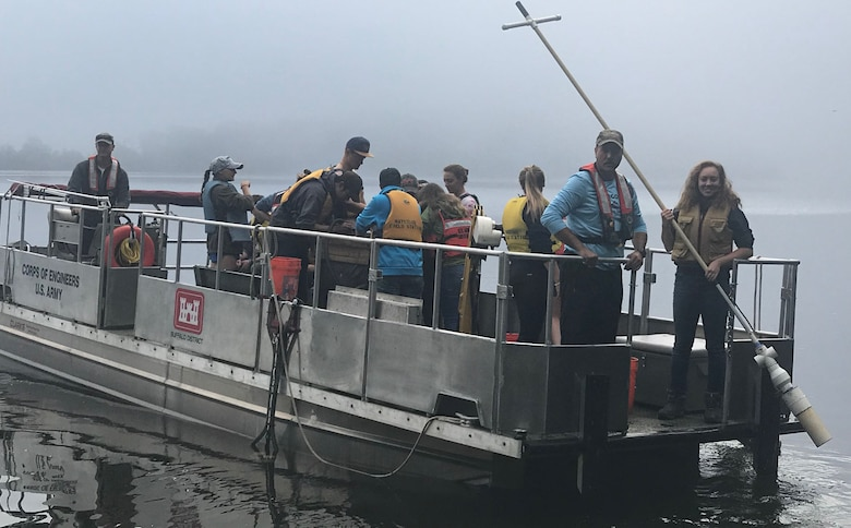 Buffalo District partnered with U.S. Army Corps of Engineers, Raystown Lake​ and students from Juniata College​ to conduct a lake wide aquatic plant survey with emphasis on hydrilla (hydrilla verticillata), an invasive aquatic plant in early October 2018.