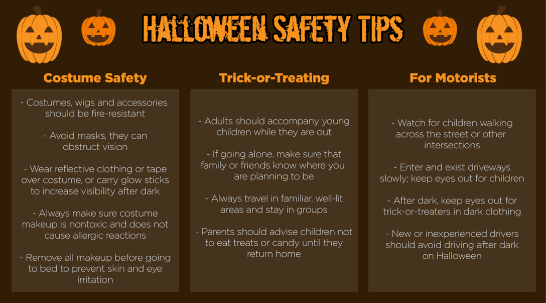 Be smart, be safe on Halloween
