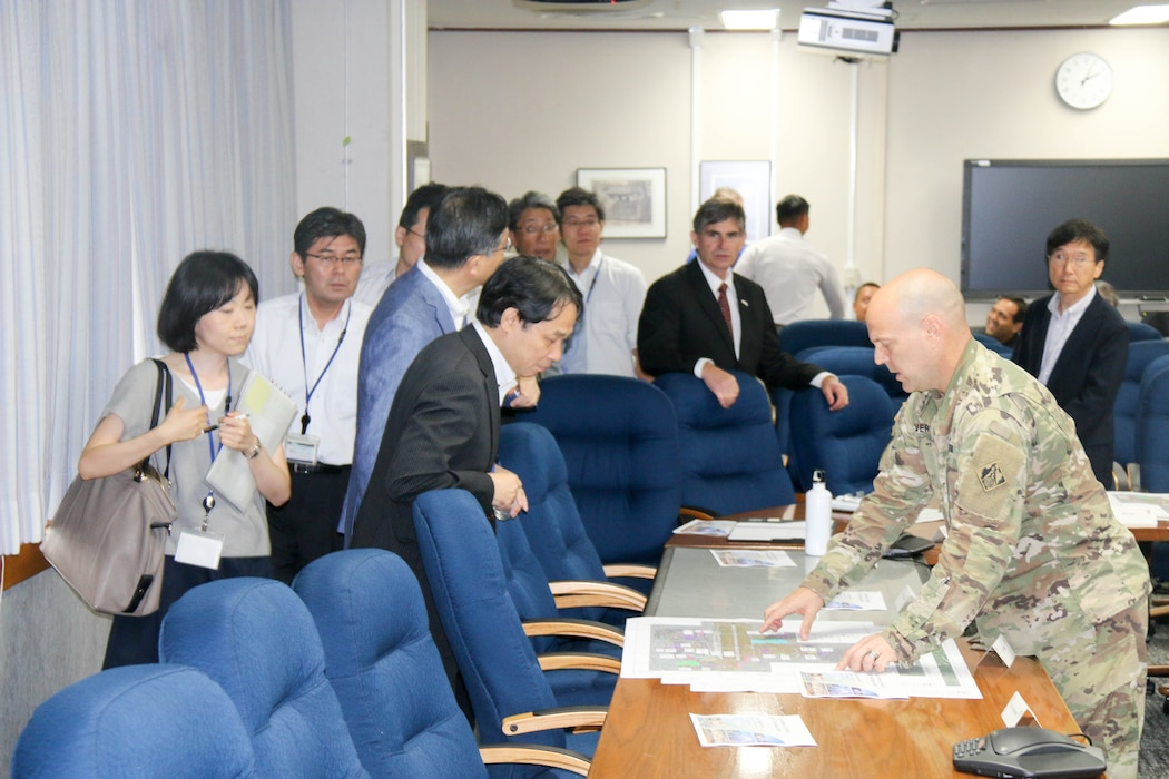 Japan Engineer District hosted a meeting with their partners from the Air Force and Japanese Ministry of Defense to discuss the planning and execution of various construction projects throughout Japan.