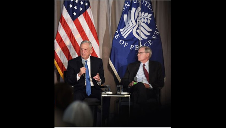 "In a web-streamed event from the U.S. Institute of Peace in Washington today, Defense Secretary James N. Mattis detailed the security environment that led to the drafting of this year's National Defense Strategy, again making the case that there is strength in numbers. At the hourlong event, Mattis focused the majority of his time discussing the strategy's second line of effort: ""Partnerships."""
