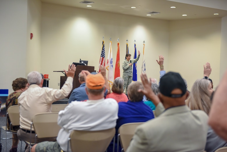 Keesler appreciates retirees, connects with services