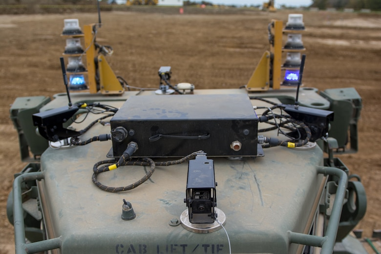 U.S. Army Reserve engineers experiment with remote-controlled bulldozer