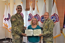 Ms. Diane Clark, officially retired Oct. 24 in a retirement ceremony conducted at the 3rd Brigade Headquarters on Oct. 19