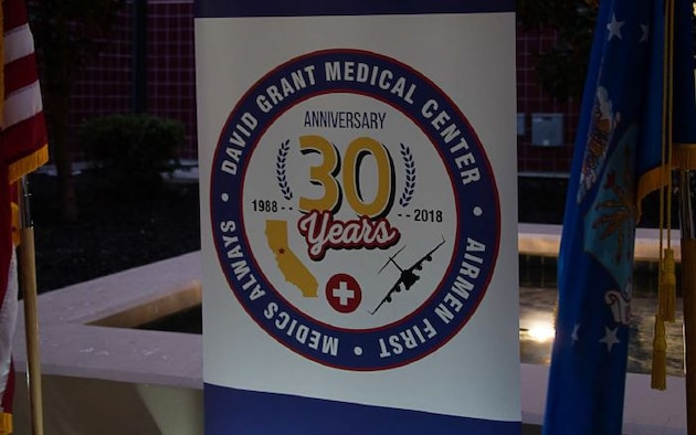 Celebrating David Grant USAF Medical Center's 30th anniversary. (U.S. Air Force photo by Heidi Couch)