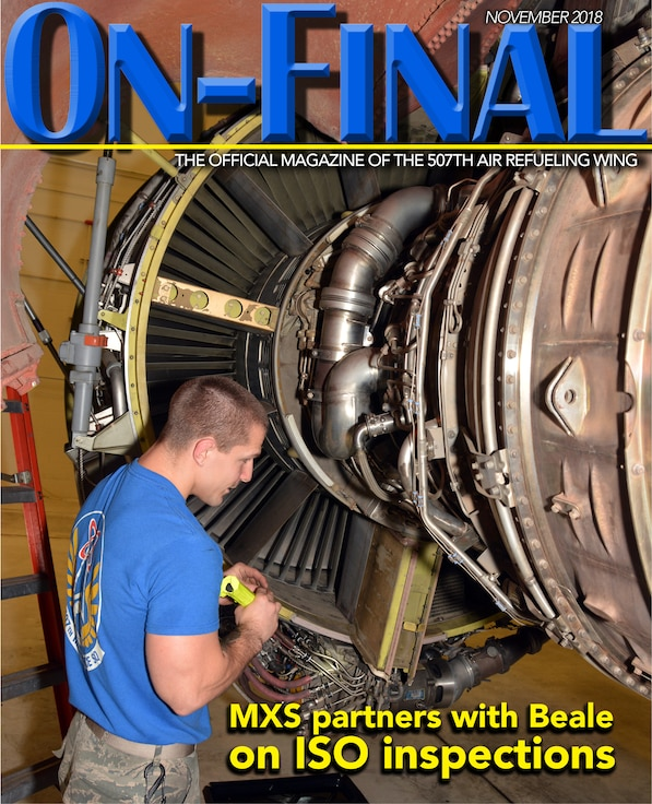The November 2018 edition of the On-final, the official magazine of the 507th Air Refueling Wing at Tinker Air Force Base, Oklahoma.