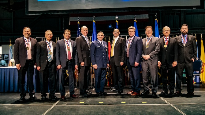 Eight scientists and engineers were recognized as AFRL Fellows during the 2018 AFRL Fellows and Science and Engineering Early Career Awards Banquet held at the National Museum of the United States Air Force Oct. 25. The AFRL Fellows award, established in 1987 to recognize the laboratory's scientists and engineers for exceptional career accomplishments in either research, technology development and transition, or program and organizational leadership, has only been presented to 119 people including this year's recipients since its inception in 1987. (U.S. Air Force photo/Keith Lewis)