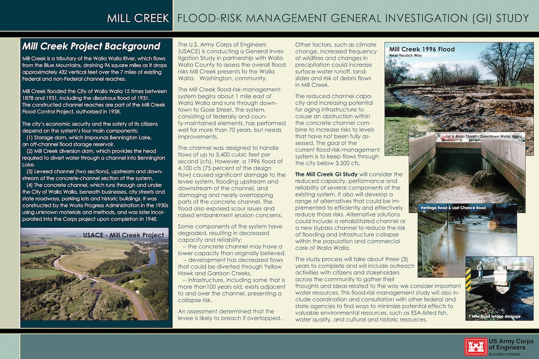 Mill Creek General Investigation (GI) Study -- Study Overview Poster 