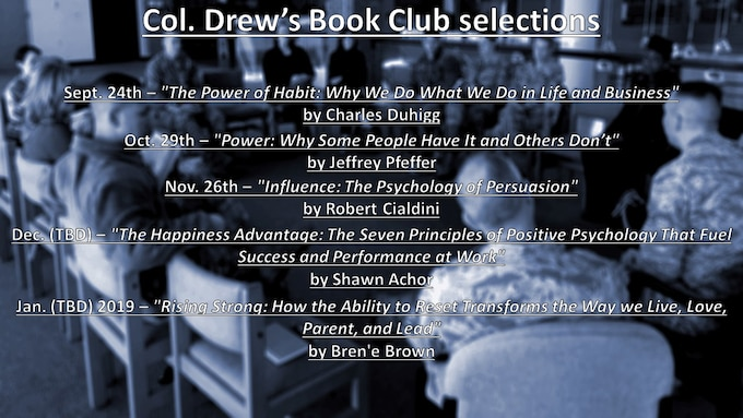 Upcoming Book Club selections