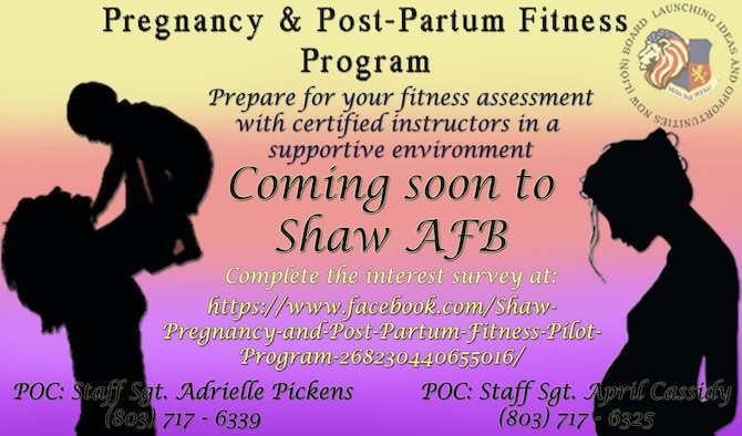 U.S. Air Force Staff Sgt. Adrielle Pickens, 51st Intelligence Squadron (IS) unit training and deployment manager, and Staff Sgt. April Cassidy, 51st IS executive officer, devised the Pregnancy & Post-Partum Fitness Program to assist women who are either pregnant or within the first 12 months of post-partum with staying fit to fight or preparing for their first fitness assessment after giving birth.