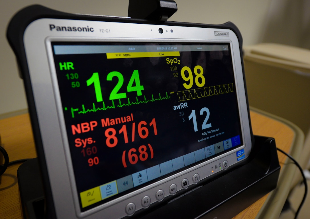 The Tele-ICU system continues to monitor ICU patients' vitals when medical center providers are out of the room assisting other critical patients.