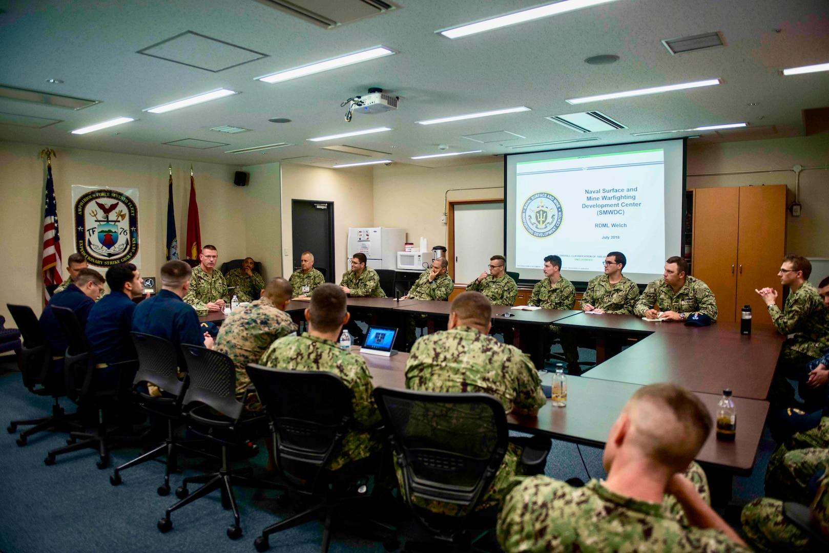 Surface Navy's Warfighting Development Center and Global Mine Warfare Commander Visits Sasebo