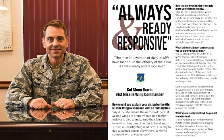 91st Missile Wing commander Q&A