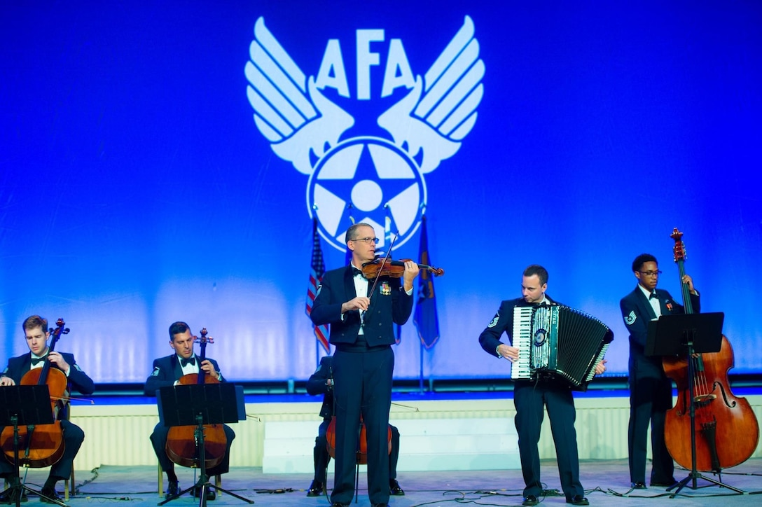 MSgt Luke Wedge performs with the Air Force Strings at AFA