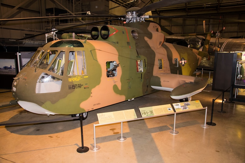 Sikorsky HH-3 in the Southeast Asia War Gallery at the National Museum of the United States Air Force. (U.S. Air Force photo by Ken LaRock)