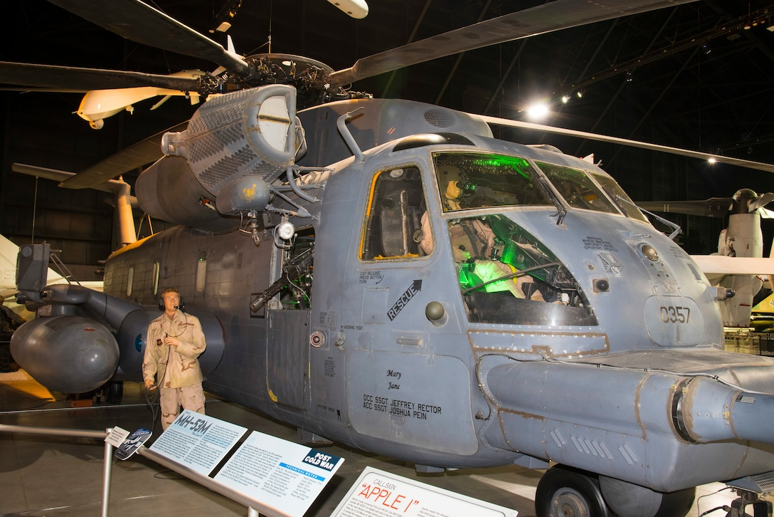 Sikorsky MH-53M Pave Low IV on display in the Cold War Gallery at the National Museum of the U.S. Air Force. (U.S. Air Force photo by Ken LaRock)