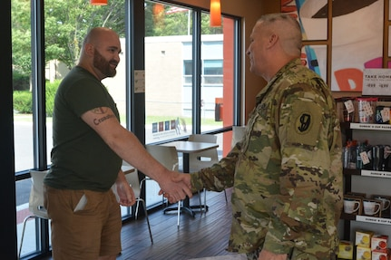 U.S. Army Reserve Soldier meets bone marrow recipient after 12 years