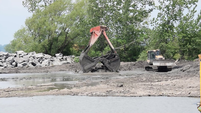 The U.S. Army Corps of Engineers, Buffalo District began implementing an innovative project for aquatic ecosystem restoration along the Niagara River in summer 2018 by using a resource that is abundantly available to the agency: dredged sediment.