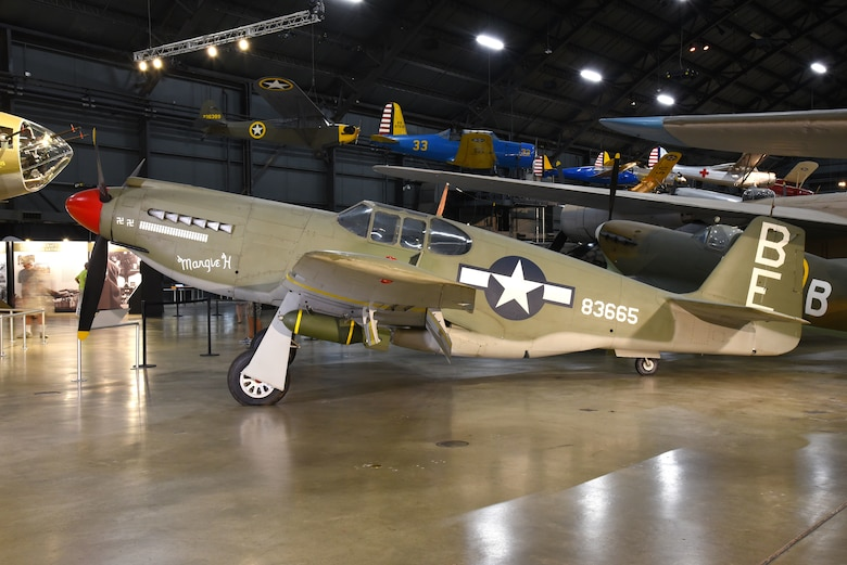 DAYTON, Ohio -- North American A-36A Mustang in the WWII Gallery at the National Museum of the United States Air Force. (U.S. Air Force photo by Ken LaRock)