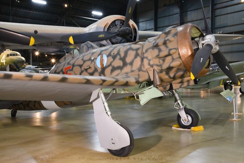 DAYTON, Ohio -- Macchi MC.200 Saetta in the WWII Gallery at the National Museum of the United States Air Force. (U.S. Air Force photo by Ken LaRock)