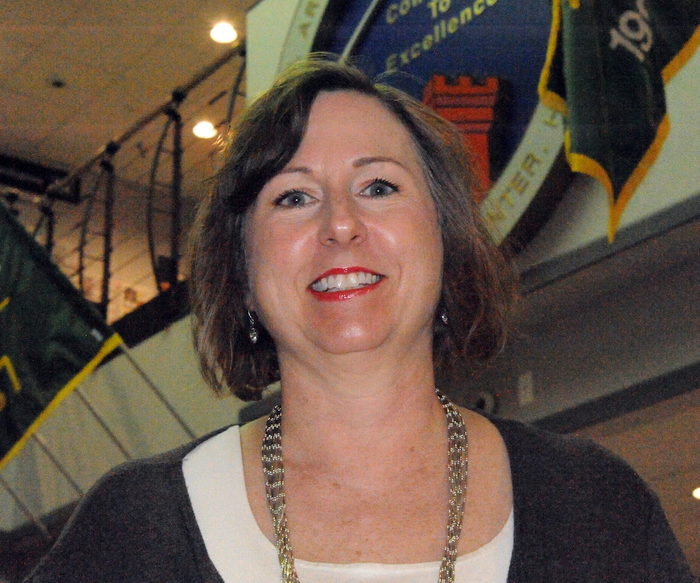 """Sally Parsons, chief of the Information Technology Systems Division at U.S. Army Engineering and Support Center, Huntsville, won the """"Redstone Women Who Rock!"""" award in the leadership category  from the North Alabama Chapter of Federally Employed Women."""