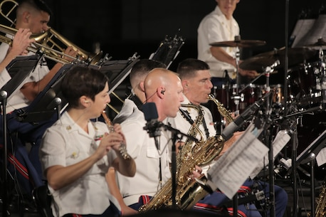 On Aug. 22, 2018, the Marine Latin Jazz Ensemble performed at the U.S. Capitol Building in Washington, D.C. (U.S. Marine Corps photo by Master Sgt. Kristin duBois/released)
