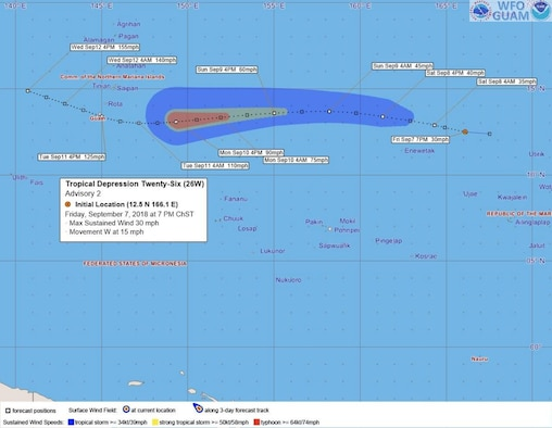 Guam Typhoon Conditions: