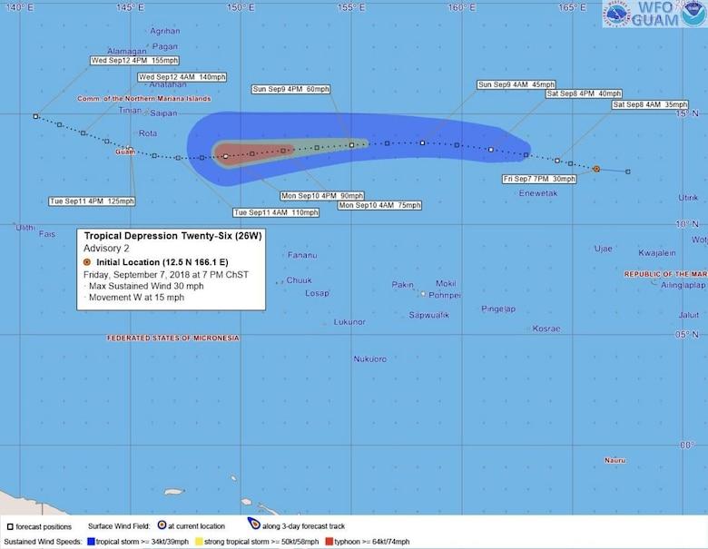 Guam Typhoon Conditions: