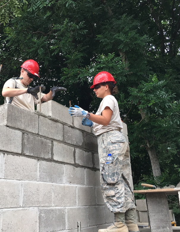 201st RED HORSE Squadron Airmen build schools from-the-ground-up June 11, 2018 in El Salvador for Beyond the Horizon. The Airmen from Fort Indiantown Gap, Pennsylvania did two-week rotations in support of the annual humanitarian/training exercise conducted by U.S. Southern Command in Latin American and Caribbean Nations. (U.S. Air National Guard Photo/Released)