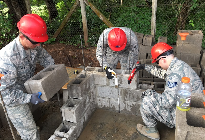 201st RED HORSE Squadron Airmen build schools from-the-ground-up May 30, 2018 in El Salvador for Beyond the Horizon. The Airmen from Fort Indiantown Gap, Pennsylvania did two-week rotations in support of the annual humanitarian/training exercise conducted by U.S. Southern Command in Latin American and Caribbean Nations. (U.S. Air National Guard Photo/Released)