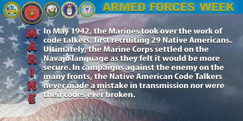 In May 1942, the Marines took over the work of code talkers, first recruiting 29 Native Americans. Ultimately, the Marine Corps settled on the Navajo language as they felt it would be more secure. In campaigns against the enemy on the many fronts, the Native American Code Talkers never made a mistake in transmission nor were their codes ever broken.