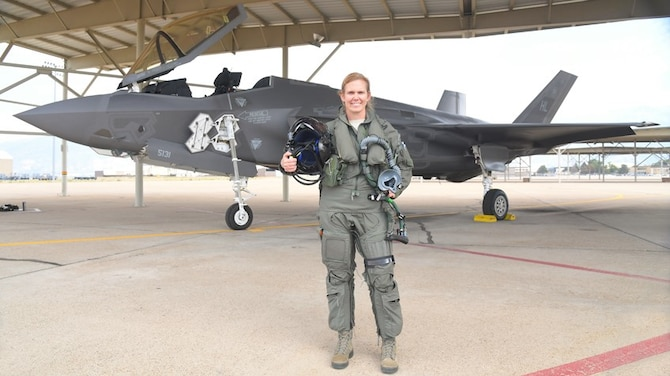 Meet Air Force Reserve's first female F-35 pilot