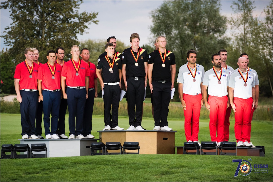 2018 Conseil International du Sport Militaire (CISM) World Military Golf Championship hosted by the German Armed Forces in Warendorf, Germany August 26 to September 2.  Military golfers from around the world compete for gold.