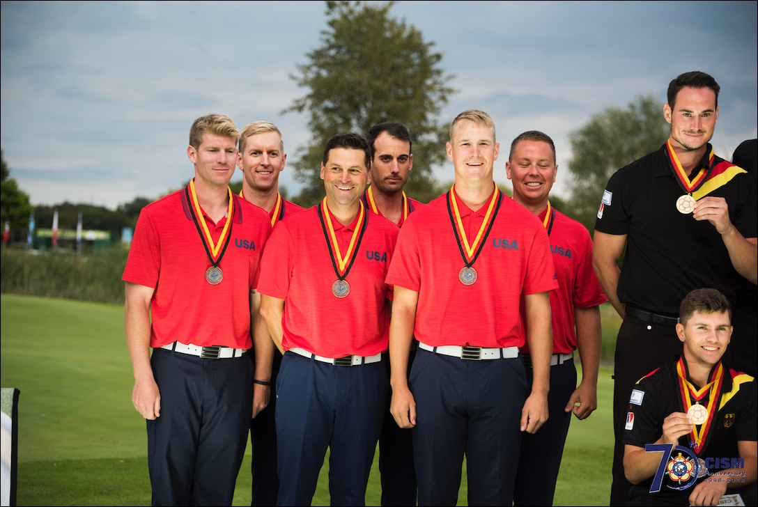 The 2018 Conseil International du Sport Militaire (CISM) World Military Golf Championship hosted by the German Armed Forces in Warendorf, Germany August 26 to September 2.  Military golfers from around the world compete for gold.