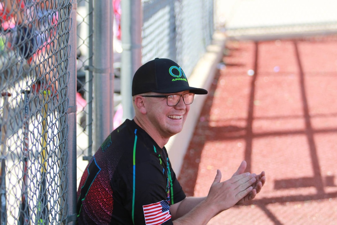 King served as both a coach and a player for Malmstrom Air Force Base's men's softball team.