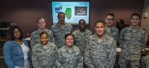 932nd Leadership welcome new citizen Airmen to the Gateway Wing.