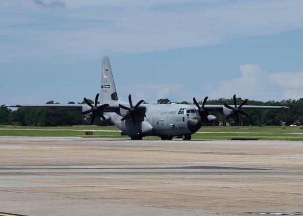 The Air Force Reserve's 53rd Weather Reconnaissance Squadron departed Keesler Air Force Base, Mississippi, Sept. 9, 2018, to operate out of Savannah/Hilton Head International Airport, Savannah, Georgia. The Reserve Citizen Airmen will start flying reconnaissance missions into Hurricane Florence Sept. 10, 2018. The Hurricane Hunters also started flying missions into Hurricane Olivia out of the Kalaeloa Airport, Hawaii, Sept. 8, 2018. (U.S. Air Force photo by Lt. Col. Marnee A.C. Losurdo)