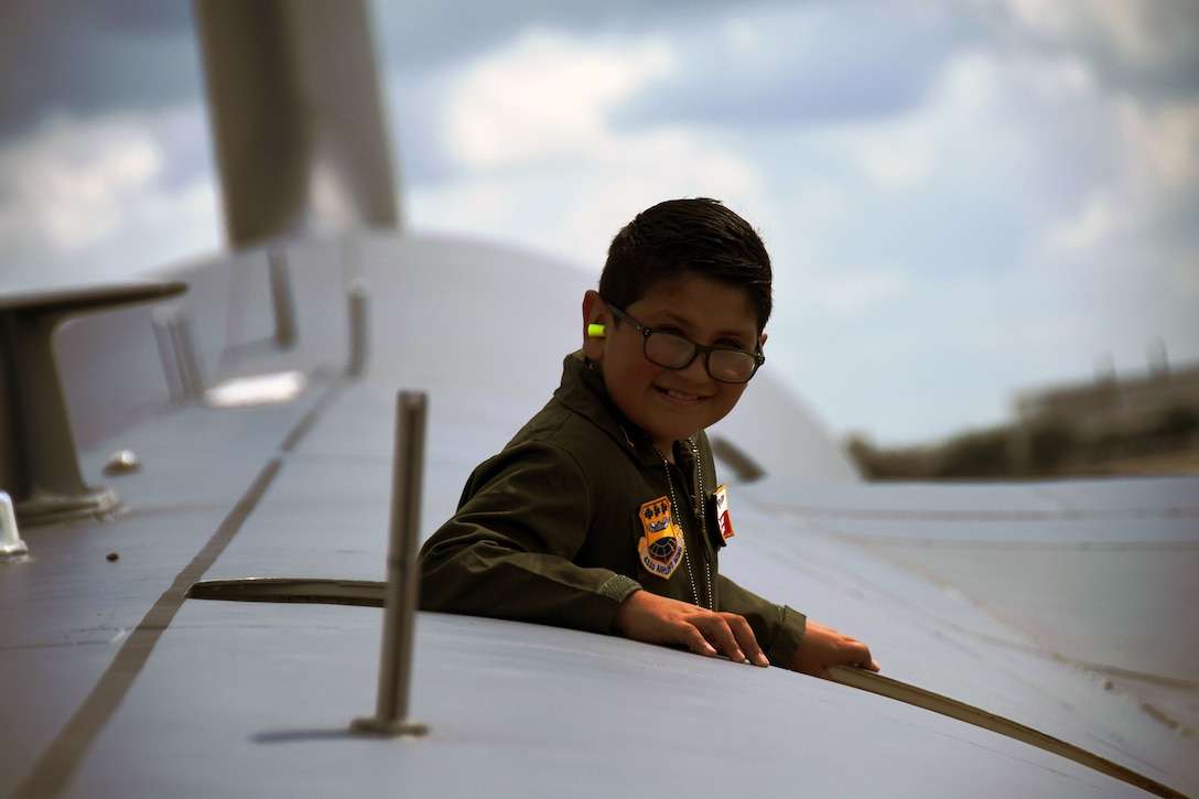 The 433rd Airlift Wing hosted 8-year-old Giovanny Gallegos, who is battling high risk leukemia, as the Pilot for a Day Sept. 8, 2018 at Joint Base San Antonio-Lackland.