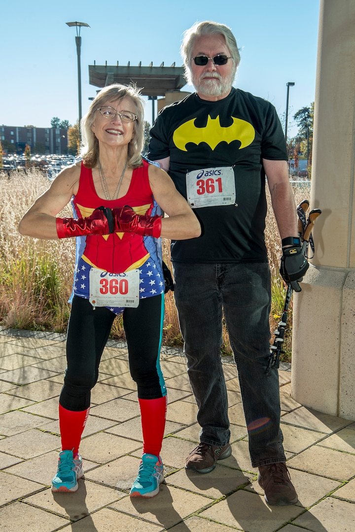 Korbel-Burgett and her husband, Jim, coordinated costumes for the race