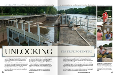 Great feature article and photos of the Wilmington District's Lock and Dam 1 located near Riegelwood, NC on the Cape Fear River in the interactive Wrightsville Beach Magazine online.  Go to page 32 on www.wrightsvillebeachmagazine.com for the article.