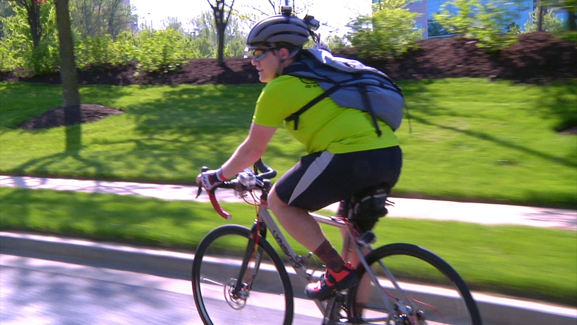 Cycling advocate and NSA mathematician Rino Sanchez bikes to work every day