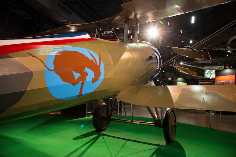 DAYTON, Ohio -- Nieuport N.28C-1 in the Early Years Gallery at the National Museum of the United States Air Force. (U.S. Air Force photo by Ken LaRock)