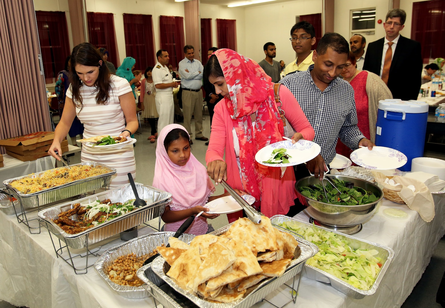 NSA & Fort Meade host the annual Iftar dinner for members of the Muslim community. Photo provided by Fort Meade Public Affairs.